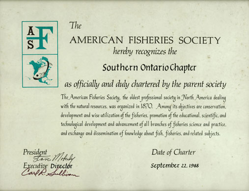 Southern Ontario Chapter Charter